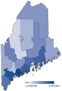 Maine wellbeing map