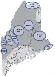 Maine Woods map