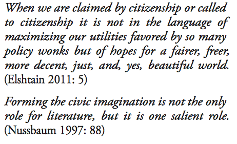 Quotes regarding the humanities and policy