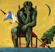 Image of man thinking about the ocean