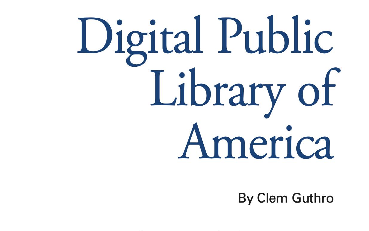 Title: Digital Public Library of America