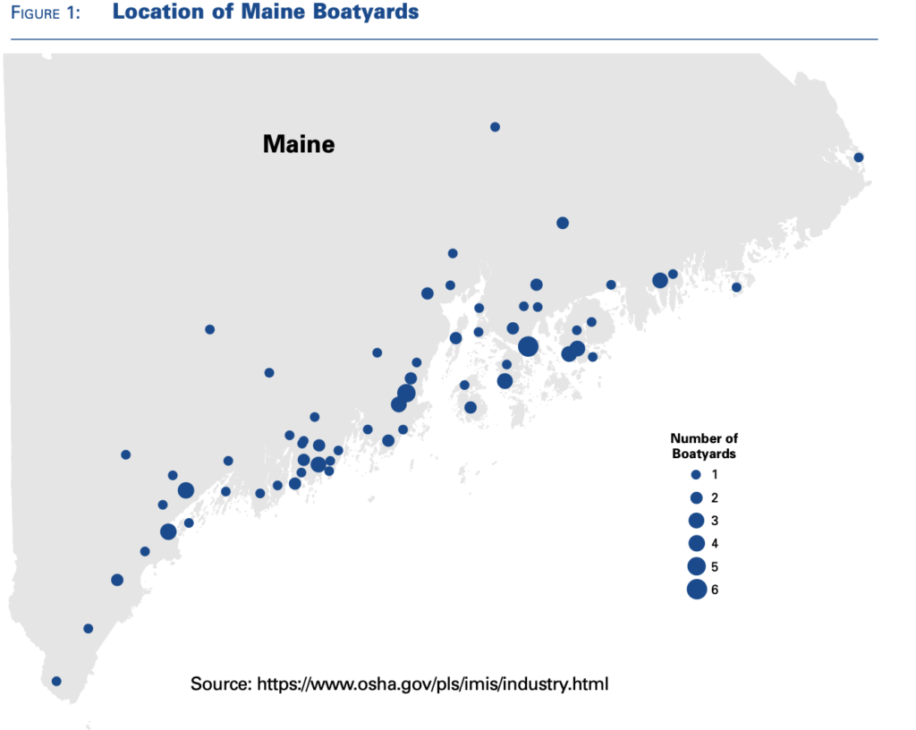 Map of Maine's Boatyards