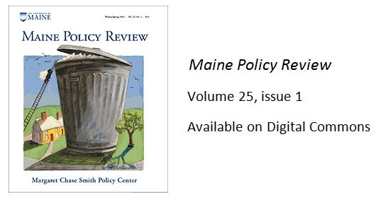 featured image for New Issue of Maine Policy Review
