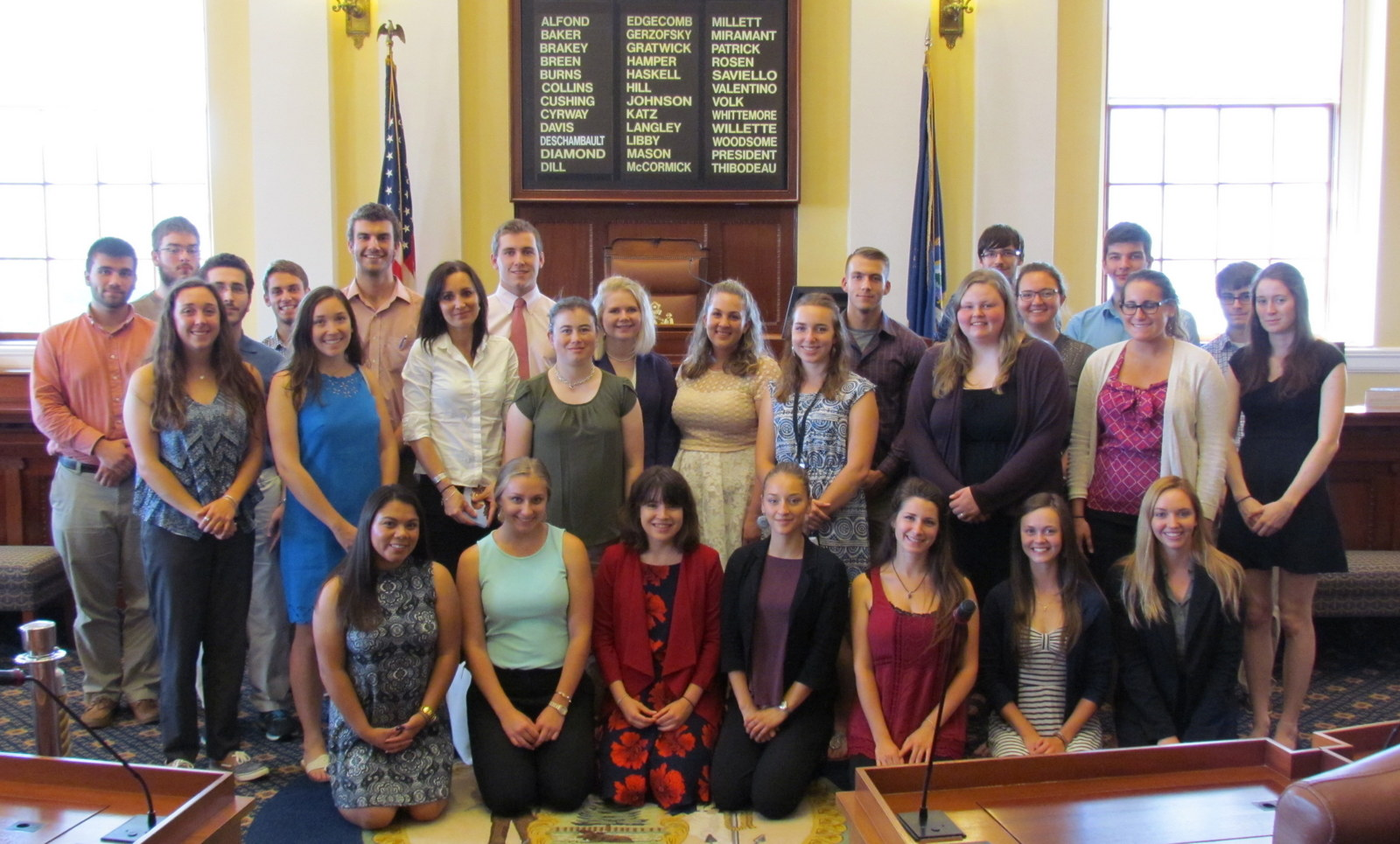 featured image for Summer Government Interns Meet in the State House