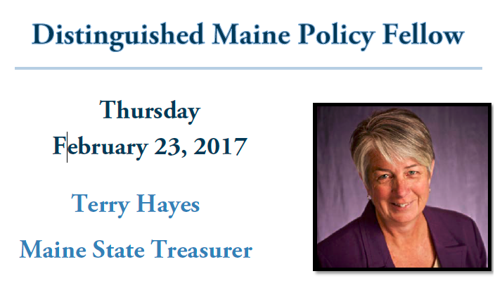 featured image for Terry Hayes is Distinguished Maine Policy Fellow Feb. 23rd