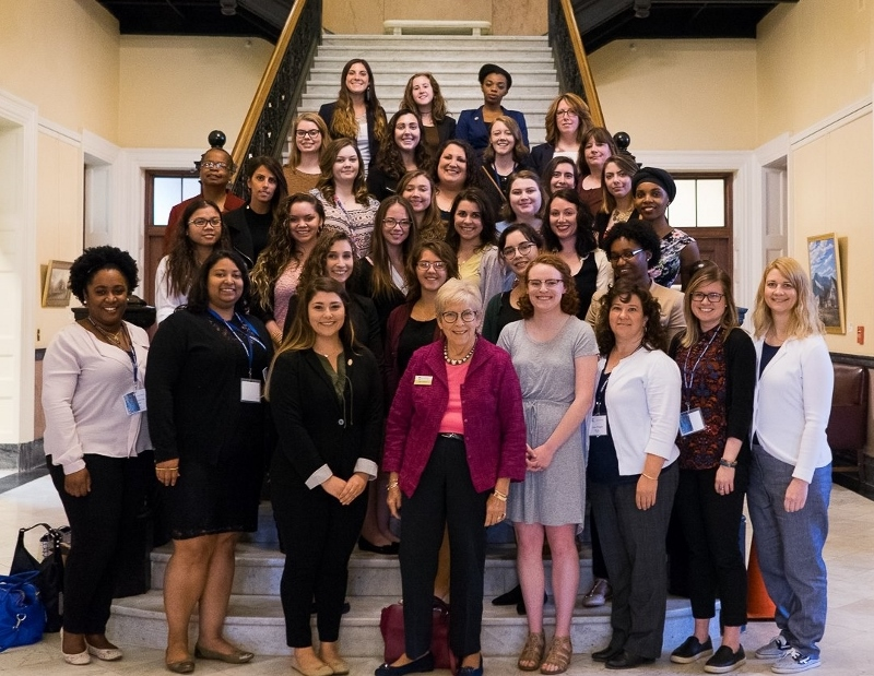 featured image for Maine's congressional delegation greets NEW Leadership students