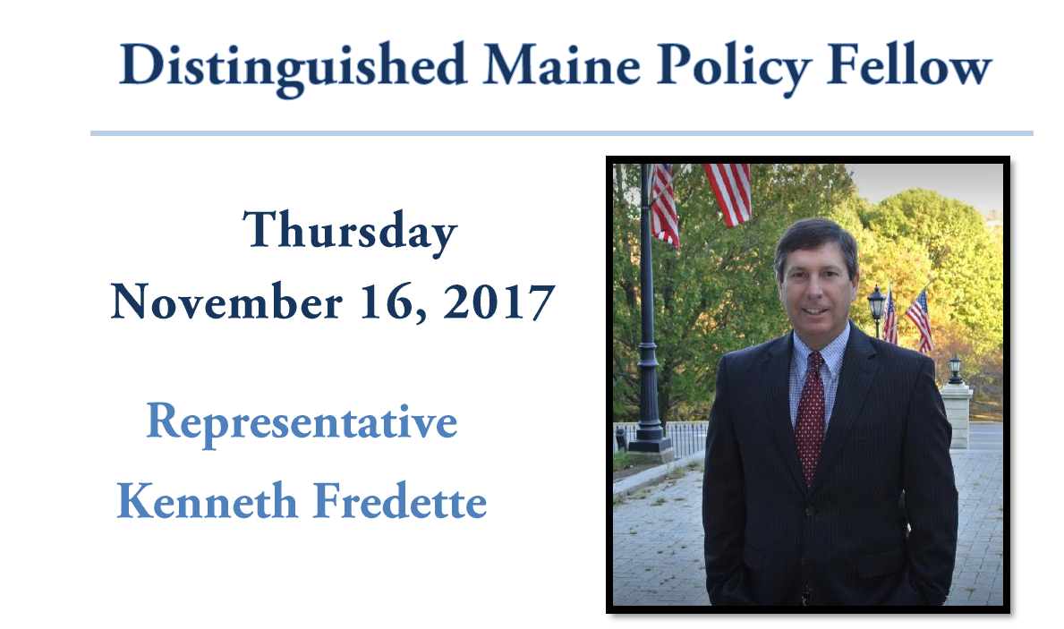featured image for Rep. Kenneth Fredette will visit UMaine Nov. 16