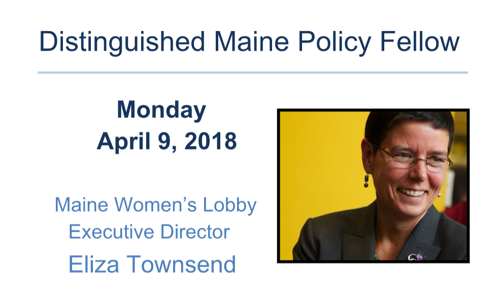featured image for Eliza Townsend, Distinguished Maine Policy Fellow April 9
