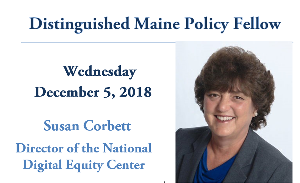 featured image for Susan Corbett is Distinguished Maine Policy Fellow, Dec. 5th
