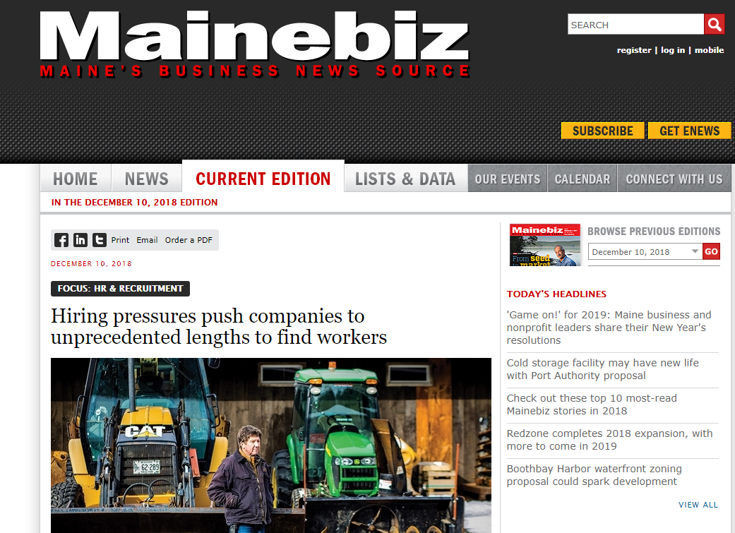 featured image for Trostel interviewed for Mainebiz article on Maine's labor market