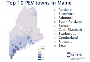 Top 10 PEV in Maine graphic