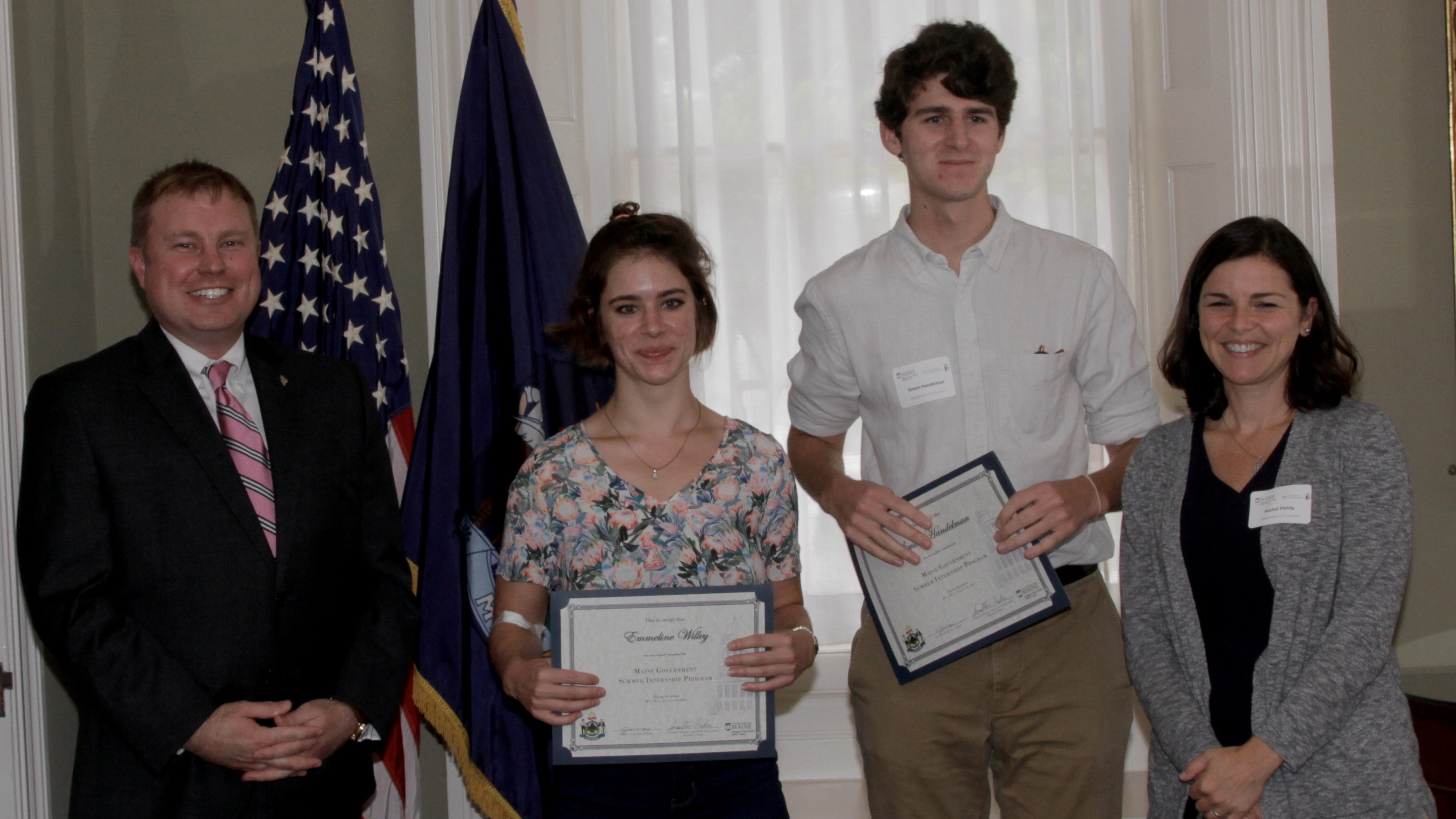 Attorney General Frey with Interns and Supervisor