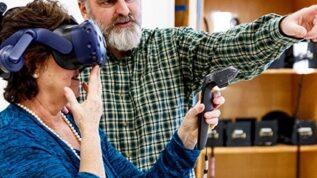 Susan Corbet in VEMI Lab