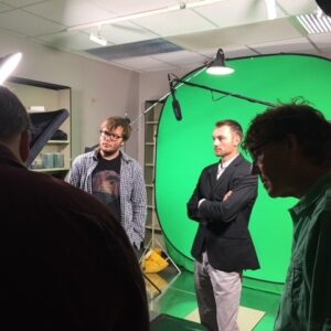 Image of Student at Video Shoot