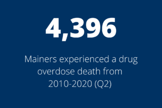 4,396 Mainers experienced a drug overdose death from 2010-2020 Q2